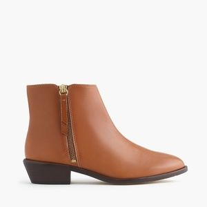 J CREW Frankie Ankle Boots Size 9.5 Tan